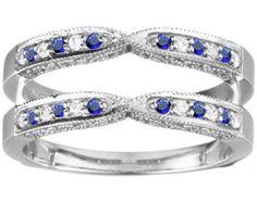 sapphire wedding band enhancer - Google Search