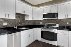 Solid Wood Cabinets is a quality, cheap priced kitchen cabinet company. You can get the highest quality kitchen cabinets at the most affordable prices. White Shaker Kitchen Cabinets, White Wood Kitchens, Update Kitchen Cabinets, Gray And White Kitchen, Solid Wood Cabinets, Modern Kitchens, White Cabinets, Kitchen Ideas, Discount Kitchen Cabinets