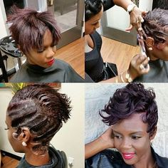  TRANSFORMATION TUESDAY  Beautiful #pixiecut ✂️transformation styled by #ShreveportStylist @Vauze and #DallasStylist @Nikki_H_Stylist❤️ She looks GORG #voiceofhair