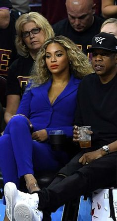 Beyoncé & Jay Z attend Game 6 of the 2016 NBA Finals between the Cleveland Cavaliers and the Golden State Warriors at Quicken Loans Arena on June 16, 2016 in Cleveland, Ohio.