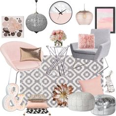DecoPix Pale pink with white and grey is a fantastic combo. Very feminine but not too girly at all. Perfect for any home!