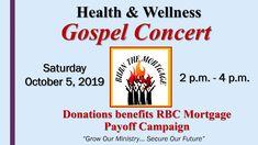 Health and Wellness Gospel Concert Oct 5 2019 Gospel Concert, Health And Wellness, Burns, Health Fitness