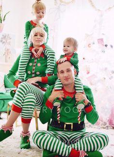61817df7a3 Striped Print Family Matching Christmas Pajamas (1031247152)