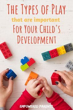 The Types of Play that are Important for your Child's Development Play is the method through which young children learn the most. There are many types of play and each serves a unique purpose in your child's development. Find out how! Child Development Stages, Child Development Activities, Toddler Development, Preschool Activities, Development Milestones, Therapy Activities, Language Development, Infant Activities, Family Activities