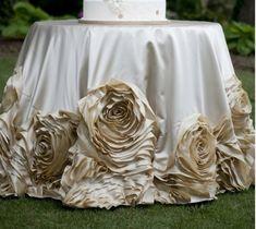 BEAUTIFUL Rosette Tablecloth