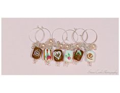 Wine glass charms drink markers tags set by ClairesLegacyJewelry, $25.00