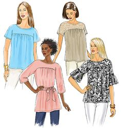 like the longer length with belt and the one with longer, ruffle sleeves - the shorter ones look a bit too maternity type