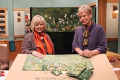 How to Make a Landscape Quilt Wallhanging With Natalie Sewell and Nancy Zieman. Beginning Landscape Quilting by Natalie Sewell and Nancy Zieman of PBS's Sewing With Nancy Television Show. Quilting Tips, Quilting Tutorials, Quilting Projects, Quilting Designs, Machine Quilting, Sewing Tutorials, Sewing Ideas, Sewing Projects, Art Quilting