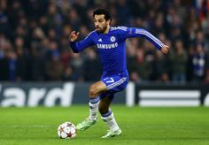 Mohamed Salah of Chelsea runs with the ball during the UEFA Champions League group G match between Chelsea and Sporting Clube de Portugal on December 10, 2014.