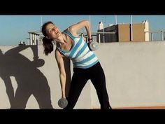 AFIRMAR Y ADELGAZAR LA CINTURA-Rutina de ejercicios para oblícuos con pesas - YouTube