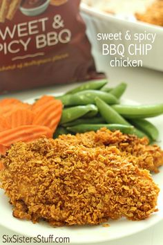 Sweet and Spicy BBQ Chip Chicken on SixSistersStuff.com
