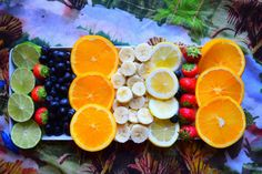 You know it must be the weekend when a delicious fruit platter like this gets presented in front of you.