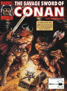 A cover gallery for the comic book Savage Sword of Conan Conan Comics, Marvel Comics, Caricature, Comic Book Covers, Comic Books, Death Of Superman, John Buscema, Conan The Barbarian, Sword And Sorcery
