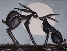 HARES-IN-THE-MOONLIGHT-
