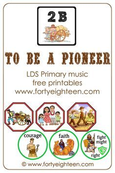 It will be ridiculously easy to teach pioneer songs this year with these cute visual aides for To Be A Pioneer