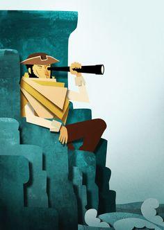 "Treasure Island  2012  Illustrations for the Robert Louis Stevenson's story ""Treasure Island"", published by ELI Edizioni"