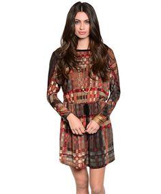 fb14729c2e0 Brown Multi Dress – The Fig Leaf Boutique Tie Dress