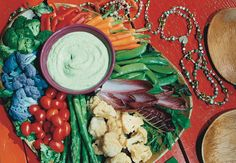 Crudités with Green Goddess Dressing - Bon Appétit - This is the best! Recipes Appetizers And Snacks, Slaw Recipes, Appetizer Dips, Appetizers For Party, Party Recipes, Green Goddess Dip, Green Goddess Dressing, Goddess Dressing Recipe, Food Words