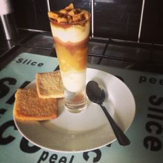 @Keen_As_Custard (Alex) has created the Millionaire's Tower...Layers of creamy homemade custard, silky caramel covered bananas and rich chocolate topped off with buttery homemade shortbread biscuits.