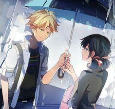 ♡ Miraculous Ladybug ♡ Escena del Paraguas ♡