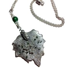 Necklace from natural skeletonized leaf with by WishYouLove