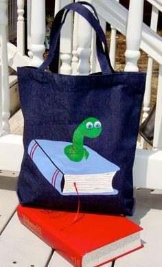 b7009953991b Book Worm Book Bag  School Bag. Love it!! Green Books