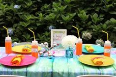 Tie Dye Themed Seated Table