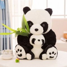 Plush Toy Stuffed Animals Doll Mother And Child Panda Cartoon Bear Kids Soft Toy