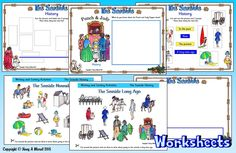 SEASIDE WORKSHEETS Free sample download at www.hang-a-mural.co.uk  Seaside Long Ago: sorting images representing the past and the present and placing them on a time line; writing about the seaside in the past and in the present; finding facts about Punch & Judy puppet shows from the past.. Introduce the topic with 'The Seaside' PowerPoint & look at these activities (including suggested answers) before completing worksheets independently