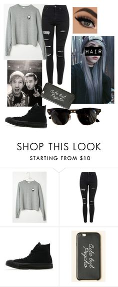 """Day with Tyler & Josh:)"" by kayla-and-bands ❤ liked on Polyvore featuring Topshop, Converse and Ray-Ban"