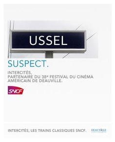 Pub SNCF 2012 : Festival cinéma américain de Deauville © la Réclame