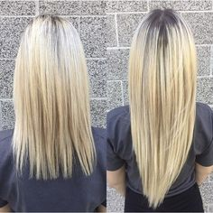 Before and After hair extensions with Hair & Compounds