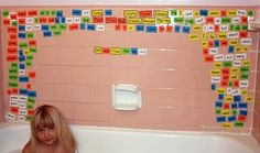 How practical for teaching sentence formation and spelling! Tub time can be educational and fun!