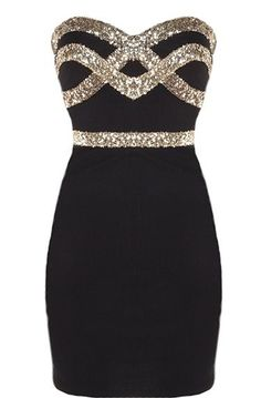 Cute and black dress for formals and dances