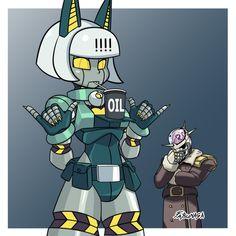 Robo-Fortune in the latest trend Skullgirls, Cartoon Art, Cartoon Characters, Character Art, Character Design, Gato Anime, Robot Girl, Isaac Asimov, Fighting Games
