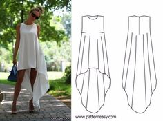 how to sew a summer dress patterns online lessons and modeling - PIPicStats Diy Clothing, Sewing Clothes, Clothing Patterns, Sewing Patterns, Named Clothing, Sewing Coat, Skirt Patterns, Coat Patterns, Dress Sewing