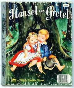 Hansel and Greatal #vintage.  I've always loved these little faces.  Had several Little Golden Books with these faces, and don't know the illustrator, but still love them.