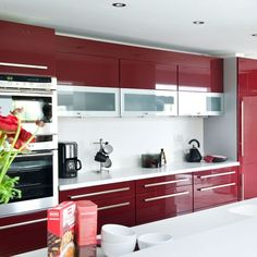 1000 images about burgundy gloss on pinterest gloss for Burgundy kitchen cabinets pictures
