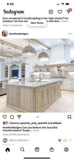 Country Kitchen Designs, Kitchen Island, Home Decor, Island Kitchen, Decoration Home, Room Decor, Home Interior Design, Home Decoration, Interior Design