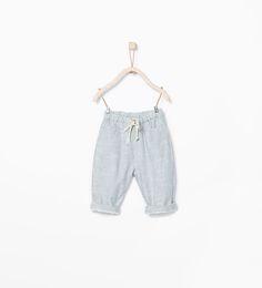 Striped drawstring trousers-Trousers-MINI | ZARA United States