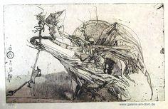 B (Birgit) (weißes Papier) von Horst Janssen präsentiert von der Galerie am Dom in Frankfurt und Wetzlar
