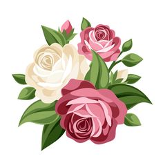 Elegant flowers bouquet vector 02