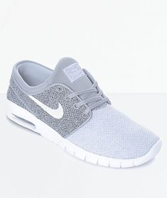 buy popular ed6a9 9847e Nike SB Janoski Air Max Wolf Grey, Grey   White Skate Shoes