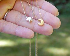 Silver star necklace - Charm Necklace, Small necklace, Simple necklace on Etsy, $22.00