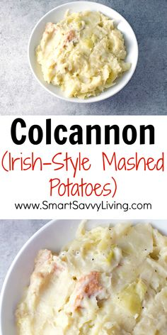 Colcannon (Irish-Style Mashed Potatoes) Recipe - This easy side dish recipe is great with ham, beef, and chicken as something different from the same old, same old. My favorite is with corned beef on St. Patrick's Day.