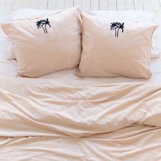 Oasis Beige Pillowcase set - Crisp Sheets