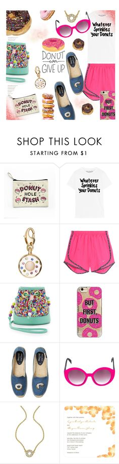 """""""""""Donut"""" Fashion"""" by stacey-lynne ❤ liked on Polyvore featuring Kate Spade, NIKE, Boutique Moschino, Agent 18, Soludos, Italia Independent and Roberta Chiarella"""