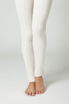 Okay I've never worn leggings but these look warm! Cableknit Leggings from Anthropologie, $39.95