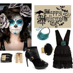 """Sugar Skull Costume"" by kara-tarsi on Polyvore"