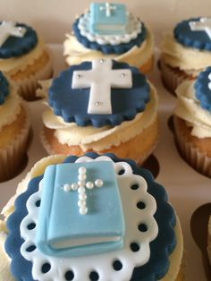 Christening cupcakes #christening #cupcakes #boy